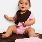 Reversible baby rib blanket