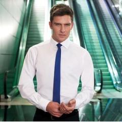 Alba cotton rich slim fit shirt