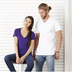 Jersey v-neck t-shirt