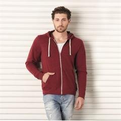 Unisex tri-blend full zip hoodie