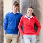 Long sleeve plain rugby shirt