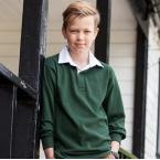 Kids long sleeve plain rugby shirt