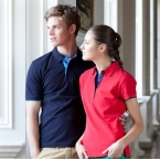 Women's contrast pique polo shirt