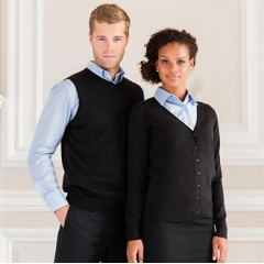 Women's v-neck knitted cardigan