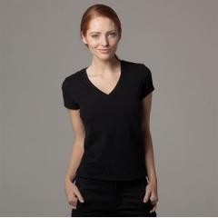 Women's cafe bar top t-shirt short sleeve