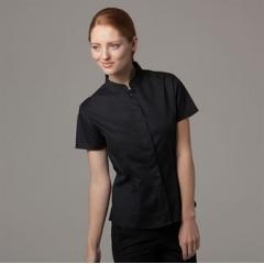 Women's bar shirt Mandarin collar short sleeve