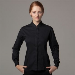Women's bar shirt Mandarin collar long sleeve
