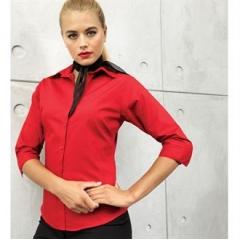 Women's A¾ sleeve poplin blouse
