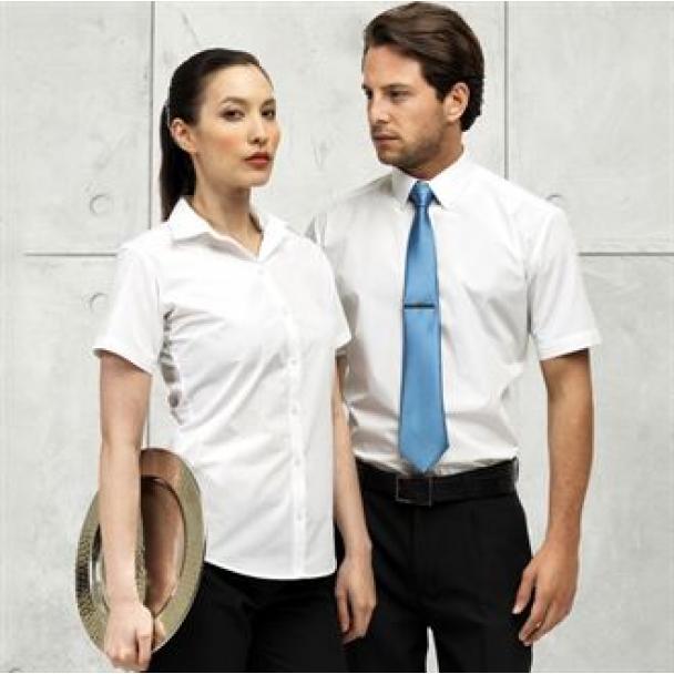 Women's supreme poplin short sleeve shirt