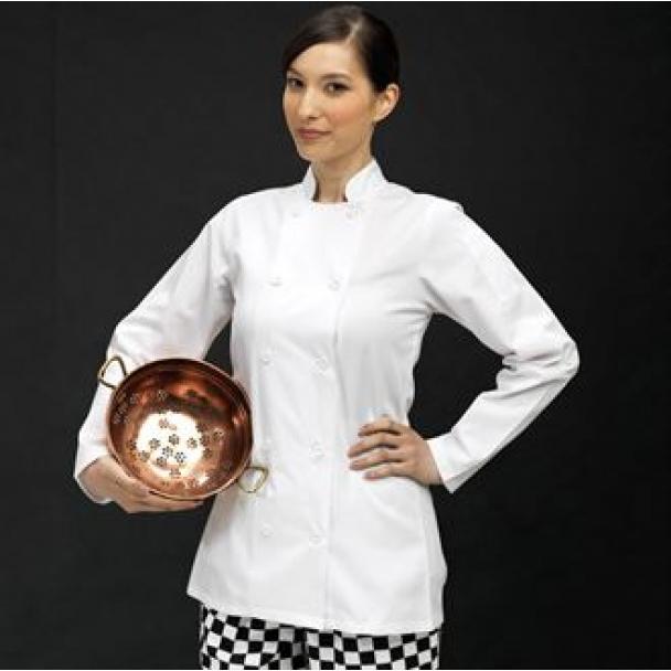 Women's long sleeve chefs jacket