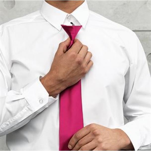 'Colours' satin clip tie