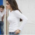 Women's long sleeve stretch T