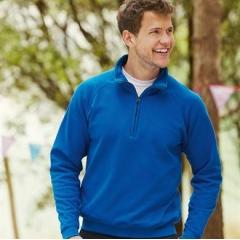 Classic 80/20 zip neck sweatshirt