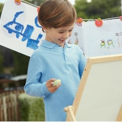 Kids long sleeve 65/35 polo