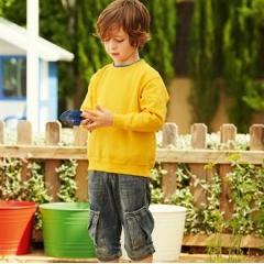 Premium 70/30 kids set-in sweatshirt