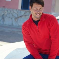 Premium 70/30 zip neck sweatshirt