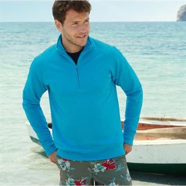 Lightweight zip neck sweatshirt