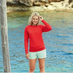 Lady-fit lightweight reglan sweatshirt