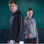 Lightweight running hoodie with reflective tape