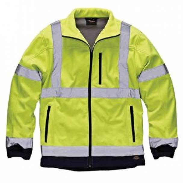Hi-vis two tone soft shell jacket (SA2007)