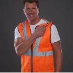 Hi vis premier railway pull-apart waistcoat (HVW118)