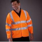 Hi vis long sleeve waistcoat (HVJ200)