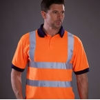 Hi vis short sleeve polo (HVJ210)
