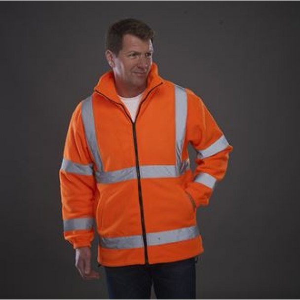 Hi vis heavyweight fleece jacket (HVK08)