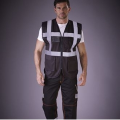 Hi vis polycotton cargo trousers with knee pad pockets (HV018T/3