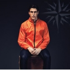 Contrast lightweight jacket