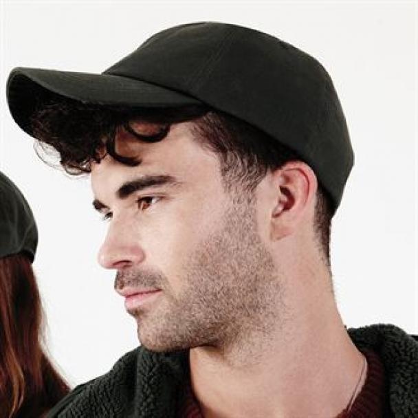 Waxed low profile cap