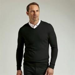 V-neck Merino wool sweater (MKN7216VN)