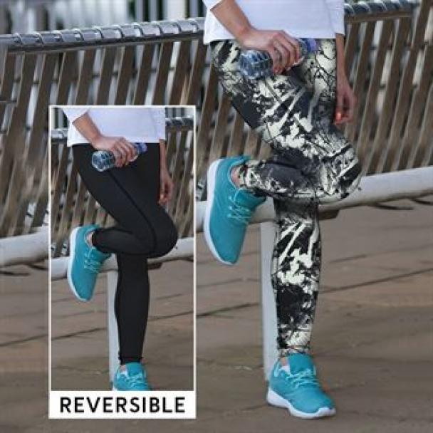 Women's reversible work-out leggings