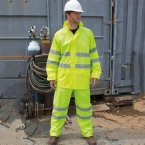 High-viz waterproof suit