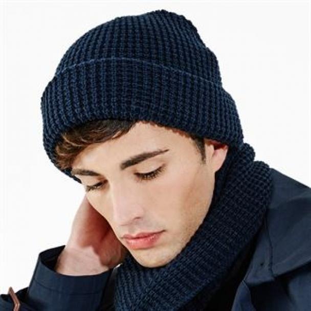 Classic waffle knit scarf