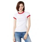 Baby rib short sleeve ringer t-shirt