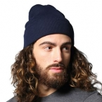 Knitted turn-up beanie