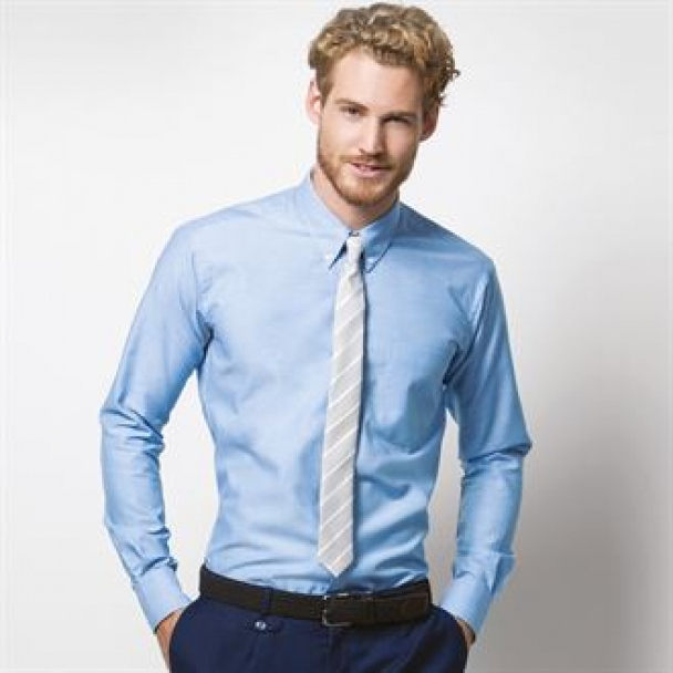 Slim fit workwear Oxford shirt long sleeved
