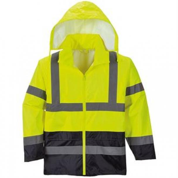Hi-vis two-tone classic contrast rain jacket (H443)