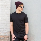 Longline t-shirt with dipped hem