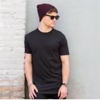 Longline t-shirt with dipped hem