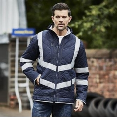 Hi-vis Kensington fleece lined jacket (HVW706)