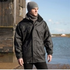 Printable 3-in-1 transit jacket with softshell inner