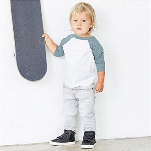 Toddler 3/4 sleeve baseball tee