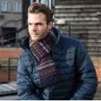 Arran heavy knit scarf