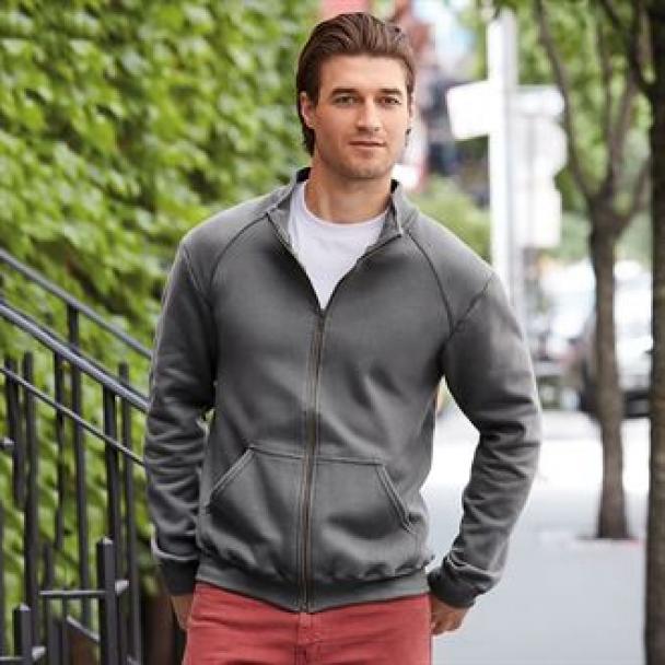 Premium cotton full-zip jacket