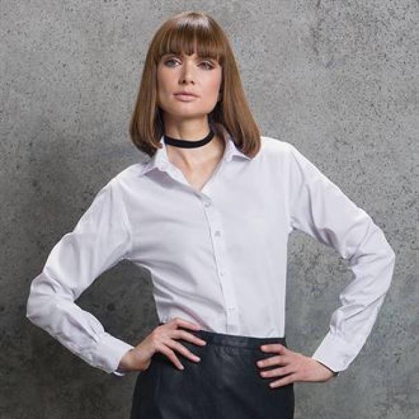 Women's non-iron shirt long sleeved