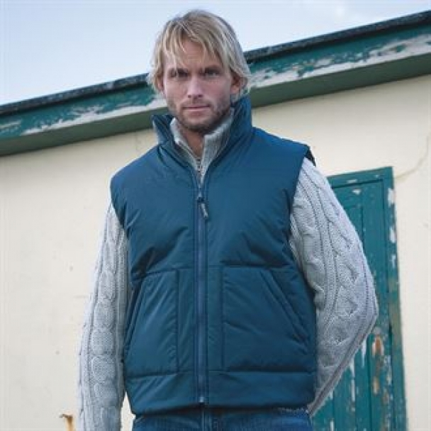 Fleece-lined bodywarmer