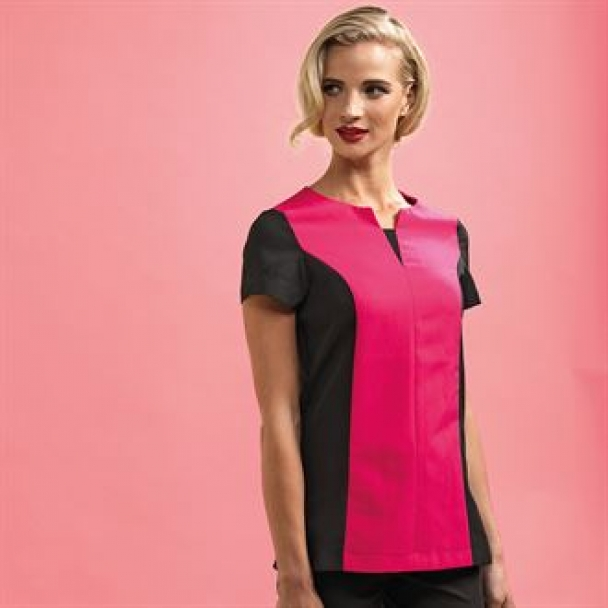 Peony beauty and spa panelled tunic