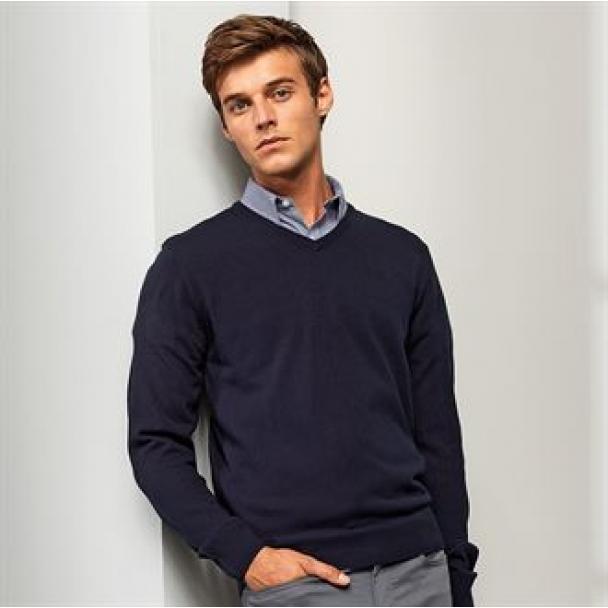 'Essential' acrylic v-neck sweater